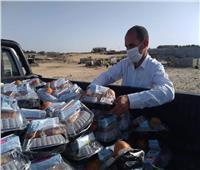 توزيع 1500 وجبه غذائية علي المستحقين يوميًا بشمال سيناء