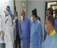 نائب محافظ بنى سويف يتفقد مستشفى ناصر العام لمتابعة حالات «كورونا» المحولة