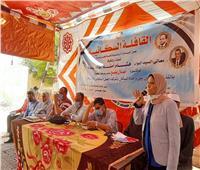 الكشف على 200 مريض ضمن مبادرة «حياة كريمة» بقرية الحاجر بكفر الدوار