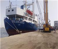 تفريغ 5400 طن حديد بميناء غرب بورسعيد