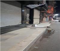 حملة تطهير مكبرة بشوارع مدينة طنطا بعد إغلاق المحلات   صور