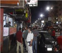 حملة على المقاهي والمحال وتحرير ٢٣ محضراً لعدم ارتداء الكمامة بالأقصر