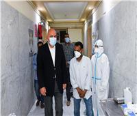 محافظ قنا يفاجئ «الحميات» للاطمئنان على الرعاية الصحية لمرضى كورونا  صور