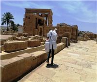 أسوان: حملات مستمرة لتعقيم المعابد والمناطق الأثرية والمطارات والفنادق