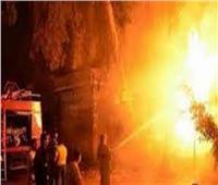ماس كهربائي وراء حريق ثلاجة موالح بمنشأة القناطر