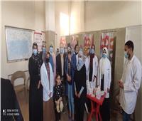 جامعة حلوان تنظم قوافل طبية مجمعة في منطقة «كفر العلو»