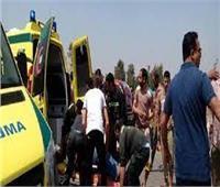 إصابة 5 أشخاص إثر إنقلاب سيارة على طريق وادي العلاقي بأسوان