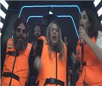 الرعب يصيب نهلة سلامة في كبسولة «الهوب دروب» مع رامز  فيديو