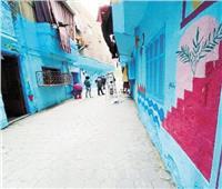 «شفشاون المغربية» لوحات تزين شوارع حدائق القبة