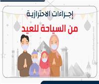إنفوجراف   الإجراءات الاحترازية من «السياحة» استعدادًا للعيد