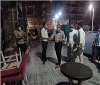 تحرير 19 محضرًا وغلق 3 مقاهي لمخالفة الإجراءات الاحترازية  في المنيا