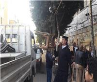 تحرير 2612 محضر إشغال طريق بالجيزة