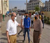 حملة تنظيف وتعقيم لمحطة مصر للسكة الحديد استعدادا لعيد الفطر