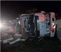 إصابة 10 أشخاص فى حادث تصادم بين 3 سيارات بـ«إقليمي المنوفية»