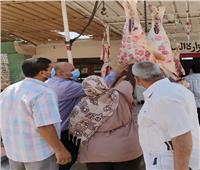 ضبط لحوم مذبوحة خارج السلخانة وتحرير 4 محاضر تموينية بـ«السادات».. صور