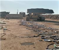 إعدام ٣٠٠ شيشة بعد مصادرتها بالمقاهي المخالفة في البحيرة