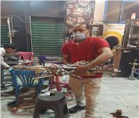 رفع 95 حالة إشغال طريق بحي الهرم