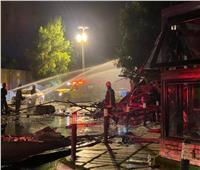بالصور   مقتل وإصابة 8 في حريق في مطعم بالسعودية