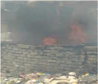 حريق بـ«أرض فضاء» مجاورة لخط السكة الحديد غرب الاسكندرية 