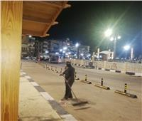 حملات ليلية للنظافة وتطهير شوارع حي وسط الأقصر
