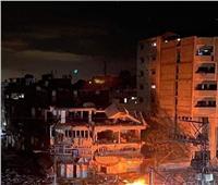 طيران الاحتلال يقصف شارع الجلاء بمدينة غزة