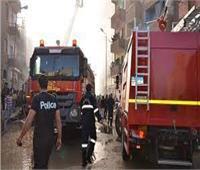 إصابة شخص في حريق بالإسماعيلية