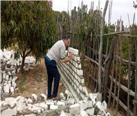 إزالة بناء مخالف في منشأة القناطر بالجيزة| صور