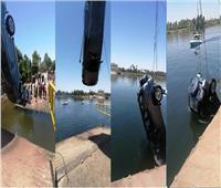 «الداخلية» تنقذ رجل وطفلين سقطت بهم سيارة في النيل بالأقصر