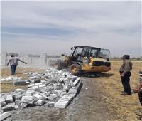 إزالة 4 حالات تعديبالبناء على الاراضى الزراعية بنطاق 4 مراكز بالبحيرة