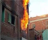 تفحم ربة منزل في حريق هائل بعقار سكني بشبين القناطر