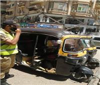 ضبط 16 توك توك مخالف بمدينة الزقازيق