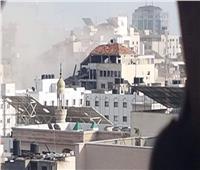 طائرات الاحتلال تقصف مقر وزارتي «الصحة» و«الأوقاف» في غزة
