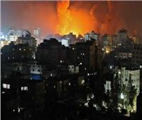 قصف الطائرات الإسرائيلية غرب مدينة غزة