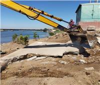 وزارة الري تواصل حملاتها لإزالة التعديات على نهر النيل