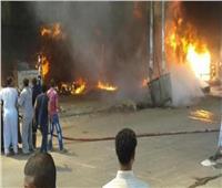 التحريات الأولية تكشف السبب وراء حريق مخزن «فايبر» بالقليوبية