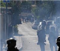 مواجهات بين فلسطينيين وقوات الاحتلال في حي الشيخ جراح في القدس.. صور
