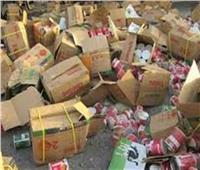 ضبط 6 أطنان مواد غذائية فاسدة بالجيزة