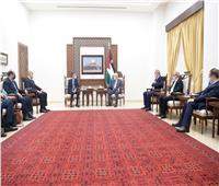 محمود عباس يستقبل الوفد الأمني المصري ويشكر الرئيس السيسي