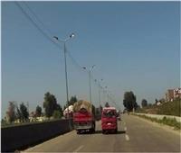 سيولة مرورية على الطرق السريعة والدائري بالقليوبية