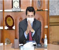 وزير الشباب يصطحب وفد «الأنوكا» في جولة بمدينة مصر الدولية للألعاب الأولمبية