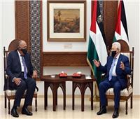 «شكري»: نقلت رسالة تضامن كاملة من السيسي إلى الرئيس الفلسطيني