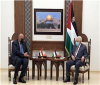 محمود عباس يستقبل سامح شكري