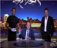 «ملوك الجدعنة» يقتحمان ستديو الحكاية ويفاجئان عمرو أديب