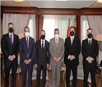 الفريق أسامة ربيع يستقبل السفير البنمي ومدير الهيئة البحرية