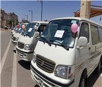 محافظ أسوان يدشن سيارات الميكروباص الجديدة لأهالي «خور عواضة»