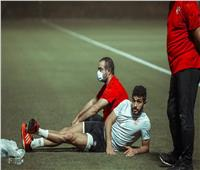 أيمن اشرف ينتظم في مران الأهلي