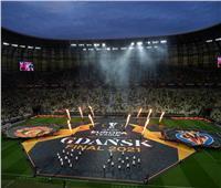 حفل موسيقي قصير قبل انطلاق نهائي الدوري الأوروبي| صور