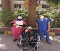 تعافي مسنة من فيروس كورونابمستشفى حجر صحي كفر الدوار