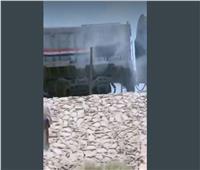 تصاعد أدخنة من جرار أحد القطارات يثير الذعر في محطة الواسطي ببني سويف