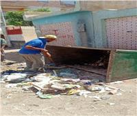 رفع 20 طناً من القمامة بشوارع وميادين الباجور